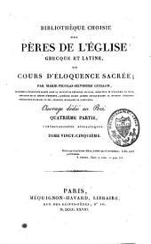 Bibliothèque choisie des Pères de l'Eglise grecque et latine, ou Cours d'éloquence sacrée: Volume25