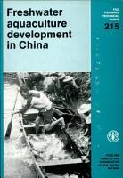 Freshwater Aquaculture Development in China PDF