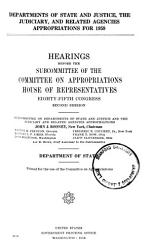 Departments of State and Justice  the Judiciary  and Related Agencies Appropriations for 1959 PDF