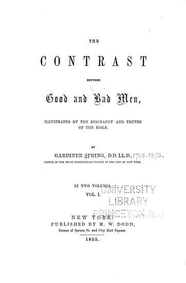 The Contrast Between Good and Bad Men PDF