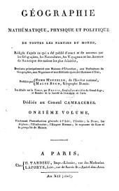 Géographie mathématique, physique et politique de toutes les partes du monde ...