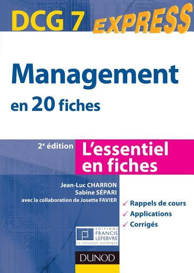 Management DCG 7   2e   dition PDF
