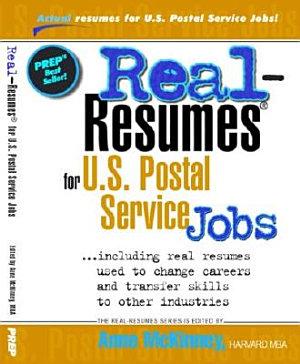 Real Resumes For U S  Postal Service Jobs PDF