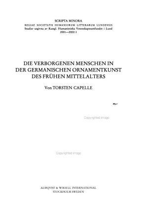 Die verborgenen Menschen in der germanischen Ornamentkunst des fr  hen Mittelalters PDF