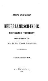 Indisch tijdschrift van het recht: orgaan der Nederlandsch-Indische juristen-vereeniging, Volume 62