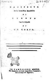Manifesto della Serenissima Repubblica di Genova con le risposte di un corso