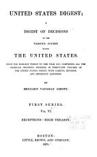 United States Digest  a Digest of Decisions of the Various Courts Within the United States  from the Earliest Period to the Year 1870 PDF