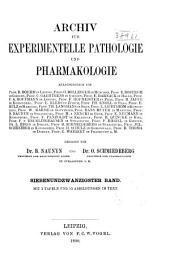Naunyn-Schmiedeberg's Archives of Pharmacology: Volume 27