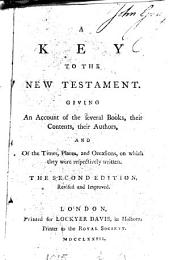 A key to the New Testament [by T. Percy].