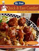 Mr  Food Quick and Easy Comfort Cookbook