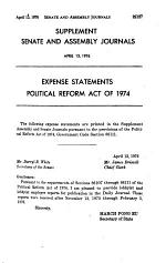 Journal of the Senate, Legislature of the State of California