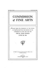 Message from the President of the United States Transmitting the Report of the Commission of Fine Arts for the Fiscal Year Ended ...