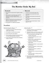 Rhythm & Rhyme Literacy Time: Activities for The Monster Under My Bed