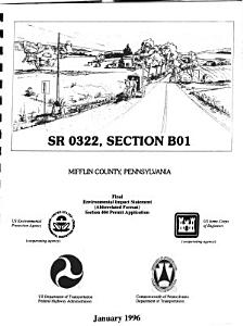 PA 322  Section B01  Transportation Corridor  Improvements from PA 655 to Mt  Pleasant  Mifflin County PDF