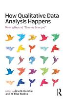How Qualitative Data Analysis Happens PDF