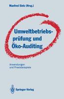 Umweltbetriebspr  fung und   ko Auditing PDF