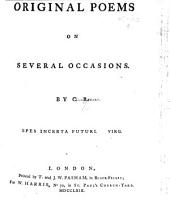 Original Poems on several occasions. By C[lara] R[eeve].