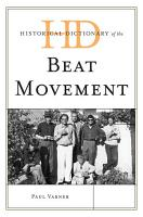 Historical Dictionary of the Beat Movement PDF