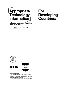 Appropriate Technology Information for Developing Countries PDF