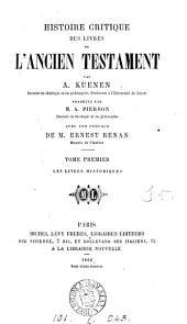 Histoire critique des livres de l'Ancien Testament, tr. par A. Pierson: Volume 1
