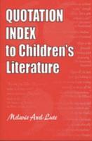Quotation Index to Children s Literature PDF