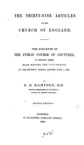 The thirty-nine articles of the Church of England (lect.).