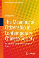 The Meaning of Citizenship in Contemporary Chinese Society PDF