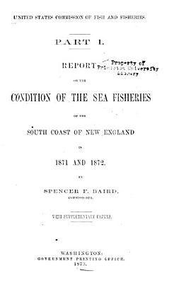 Report of the Commissioner   United States Commission of Fish and Fisheries