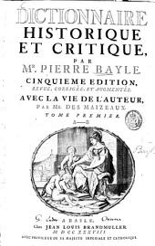 Dictionnaire historique et critique: Volume1