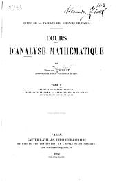 Cours d'analyse mathématique: Dérivées et différentielles. Intégrales définies. Développements en série. Applications géométriques