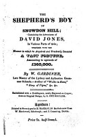 The Shepherd s Boy of Snowdon Hill  Containing the Adventures of David Jones     with a Frontispiece     by G  Cruikshank PDF