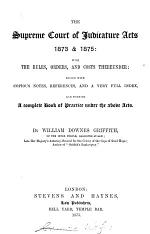 The Supreme Court of Judicature Acts 1873 and 1875