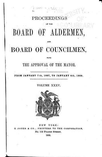 Proceedings of the Boards of Aldermen and Assistant Aldermen  and Approved by the Mayor PDF