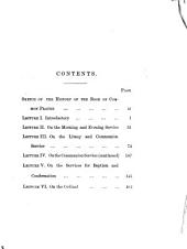 Six Lectures on the Book of Common Prayer ... With an introduction and notes