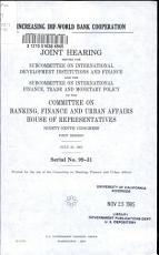 Increasing IMF World Bank Cooperation PDF