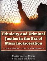 Ethnicity and Criminal Justice in the Era of Mass Incarceration PDF