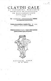 Clavdii Galeni Pergameni, De Compositione Medicamentorvm kata genē libri VII