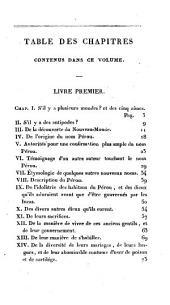 Histoire des Incas: rois du Pérou, Volume1