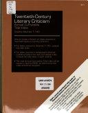 Twentieth-Century Literary Criticism Annual Cumulative Title Index (1-143)