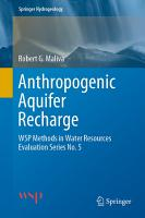 Anthropogenic Aquifer Recharge PDF