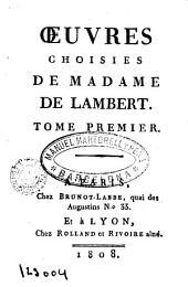 Oeuvres choisies de Anne Thérése de Marguerat de Courcelles