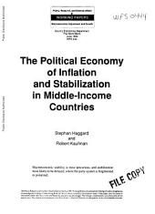 The Political Economy of Inflation and Stabilization in Middle-income Countries: Issue 444