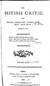 The British Critic: Volumes 29-30