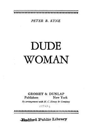 Dude Woman PDF