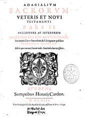 Adagialium sacrorum Veteris et Noui Testamenti pars II