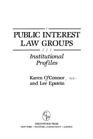 Public Interest Law Groups