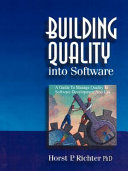 Building Quality Into Software