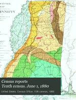Census Reports Tenth Census. June 1, 1880: Cotton production in the United States