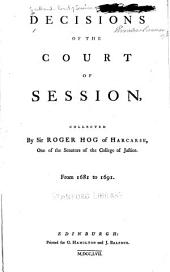 Decisions of the Court of Session: from 1681 to 1691