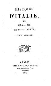 Histoire d'Italie, de 1789 à 1814: Volume3
